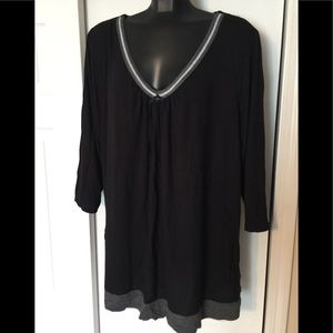 NWOT George Black Casual Shirt - Size 3x